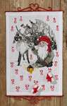 Click for more details of Elf with Reindeer Advent Calendar (cross stitch) by Permin of Copenhagen