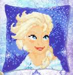 Click for more details of Elsa Cushion (tapestry) by Disney by Vervaco