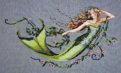 Click for more details of Emerald Mermaid (cross stitch) by Mirabilia Designs