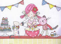 Click for more details of Emily Button - Baking (cross-stitch kit) by Anchor