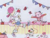 Click for more details of Emily Button - Crafting (cross stitch) by Anchor