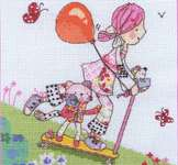 Click for more details of Emily Button - Scooter (cross stitch) by Anchor