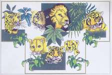 Click for more details of Endangered Cats (cross stitch) by Vickery Collection