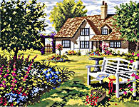 Click for more details of English Country House (cross stitch) by Eva Rosenstand