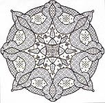 Click for more details of English Rose (blackwork) by Leon Conrad