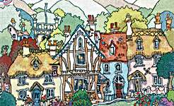 Click for more details of English Village I (cross stitch) by Michael Powell
