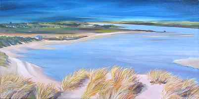 Click for more details of Estuary at Newburgh (oil on canvas) by Jan Holak