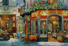 Click for more details of European Bistro (cross stitch) by Dimensions