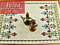 Click for more details of Evanthia Table Runner (cross stitch) by Avlea Mediterranean Folk Embroidery