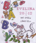 Click for more details of Evelina Birth Sampler (cross stitch) by Anchor