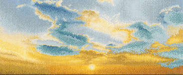 Click for more details of Evening Sky with Cumulus Clouds (cross stitch) by Thea Gouverneur