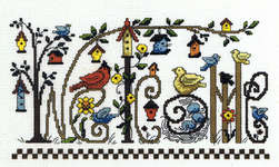 Click for more details of Every Bird Welcome (cross stitch) by Imaginating