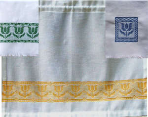 Click for more details of Everything's Coming Up Tulips (swedish weaving) by Swedish Weave Designs