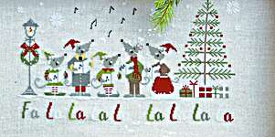 Click for more details of Fa la la (cross stitch) by Madame Chantilly
