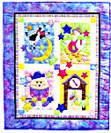 Click for more details of Fairy Tale Baby Quilt (applique pattern) by Bobbie G. Designs