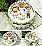Click for more details of Fairy Tale Pin Cushions - Hansel & Gretel (cross stitch) by Tiny Modernist