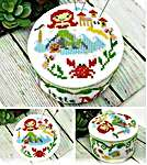 Click for more details of Fairy Tale Pin Cushions - Little Mermaid (cross stitch) by Tiny Modernist