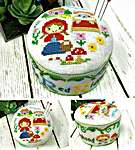 Click for more details of Fairy Tale Pin Cushions - Little Red Riding Hood (cross stitch) by Tiny Modernist