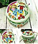 Click for more details of Fairy Tale Pin Cushions - Sleeping Beauty (cross stitch) by Tiny Modernist