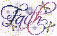 Click for more details of Faith (cross stitch) by Design Works