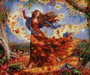Click for more details of Fall Fairy (cross stitch) by Dimensions