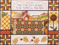 Click for more details of Fall Quilt (cross stitch) by Stoney Creek