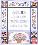 Click for more details of Families are like Quilts (cross stitch) by Janlynn