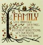 Click for more details of Family Roots (cross stitch) by Stoney Creek