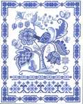 Click for more details of Fantasy in Blue (cross stitch) by Imaginating