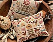 Click for more details of Farm & Folk Penny Cushions (cross stitch) by Heartstring Samplery