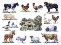 Click for more details of Farm Sampler (cross stitch) by Permin of Copenhagen