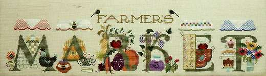 Click for more details of Farmers Market (cross stitch) by The Cross-Eyed Cricket