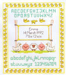 Click for more details of Farmyard Birth Sampler (cross stitch) by Daisy Designs