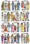 Click for more details of Fashion Through the Decades (cross stitch) by Bothy Threads