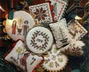 Click for more details of Festive Little Fobs Christmas Edition (cross stitch) by Heartstring Samplery