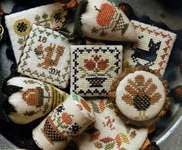 Click for more details of Festive Little Fobs - Harvest Edition (cross stitch) by Heartstring Samplery