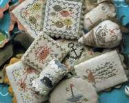 Click for more details of Festive Little Fobs - Seaside Edition (cross stitch) by Heartstring Samplery