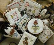 Click for more details of Festive Little Fobs Stitching Edition (cross stitch) by Heartstring Samplery