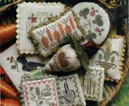 Click for more details of Festive Little Fobs - Summer Garden Edition (cross stitch) by Heartstring Samplery