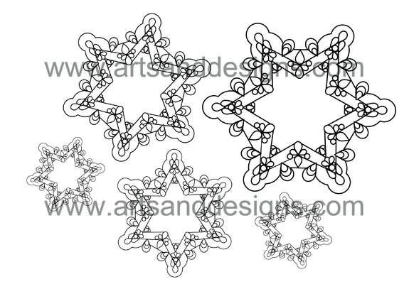 Click for more details of Filigree Snowflakes Digital Stamp (digital downloads) by Julie Lynes