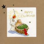 Click for more details of First Christmas Card (cross stitch) by Bothy Threads