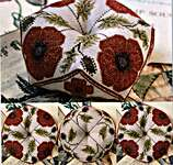 Click for more details of Flanders Fields Biscornu (cross stitch) by Heartstring Samplery