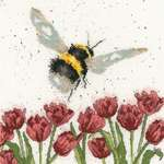 Click for more details of Flight of the Bumble Bee (cross stitch) by Bothy Threads