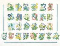 Click for more details of Floral Alphabet (cross stitch) by Thea Gouverneur