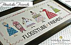 Click for more details of Flosstube Friends (cross stitch) by October House