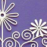 Click for more details of Flower and Curlicues Deco Hanger (bell pulls) by Rico Design