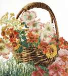 Click for more details of Flower Basket (cross stitch) by Thea Gouverneur