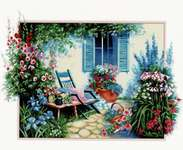 Click for more details of Flower Garden (cross stitch) by Luca - S