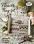 Click for more details of Flower Tray Set (cross stitch) by Jeannette Douglas