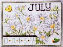Click for more details of Flowers of the Month July - Daisy (cross stitch) by Stoney Creek